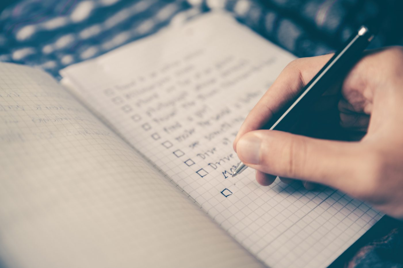 Eisen-lijst schrijven
